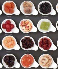 Kräuterzuckerl, Trockenfrüchte & Nüsse